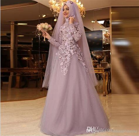 Longdress Arab 2017 muslim sleeves prom dresses high neck