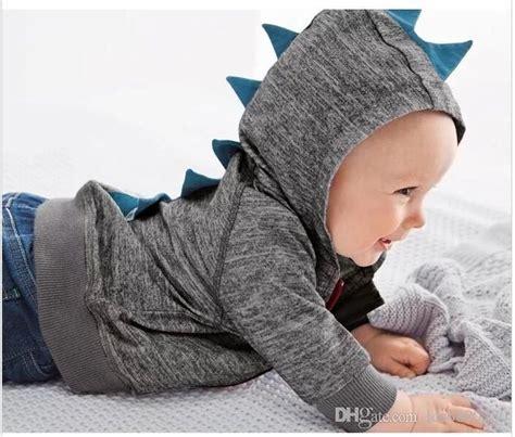 Hoodie Zipper The Dinosaur Anak 2 Boy Clothing 2018 2015 small baby boys dinosaur hoodies gray black