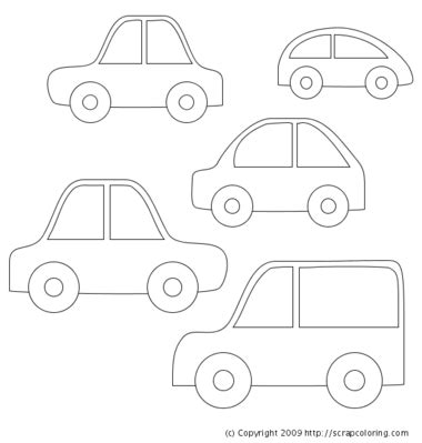 coloring pages of small cars car coloring page