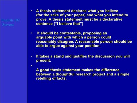 thesis statements about education an exle of a thesis statement in an essay thesis