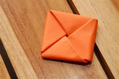 fold paper into a secret note square texting step