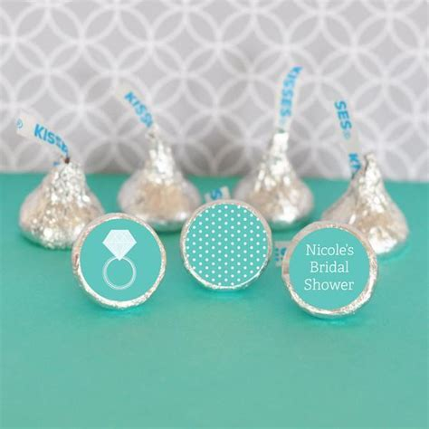 Hershey's Kisses Bridal Shower Stickers (Set of 108