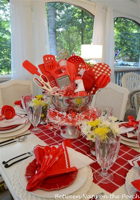 kitchen shower ideas easy centerpiece for a kitchen gadgets bridal shower