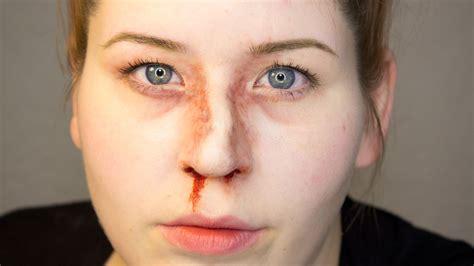 cracked nose fx makeup series broken nose