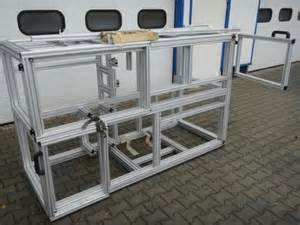 item gestell aluminium system profil gestell aus item profilen 80x80