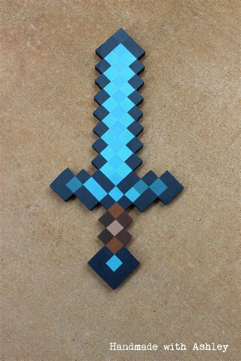 How To Make A Minecraft Paper Sword - diy minecraft sword wooden sword tutorial handmade