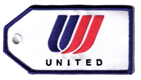 united luggage united airlines embroidered luggage tag flight