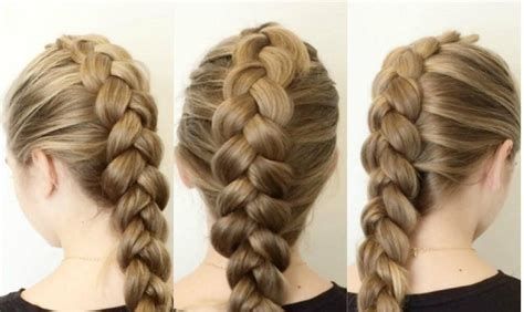 different braid step by step how to make a dutch braid in six steps shockpedia