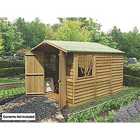 Shed Felt Screwfix by Shire 7 X 10 Nominal Apex Overlap Timber Shed Wooden