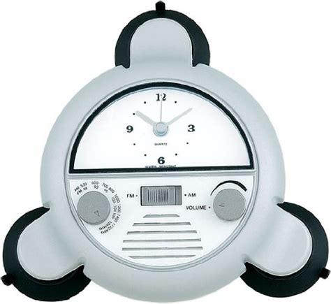 best bathroom radio water resistant am fm shower radio with clock wr1999 1