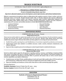 Economic Analyst Sle Resume by Finance Resume Sles 21 Free Word Pdf Documents Free Premium Templates