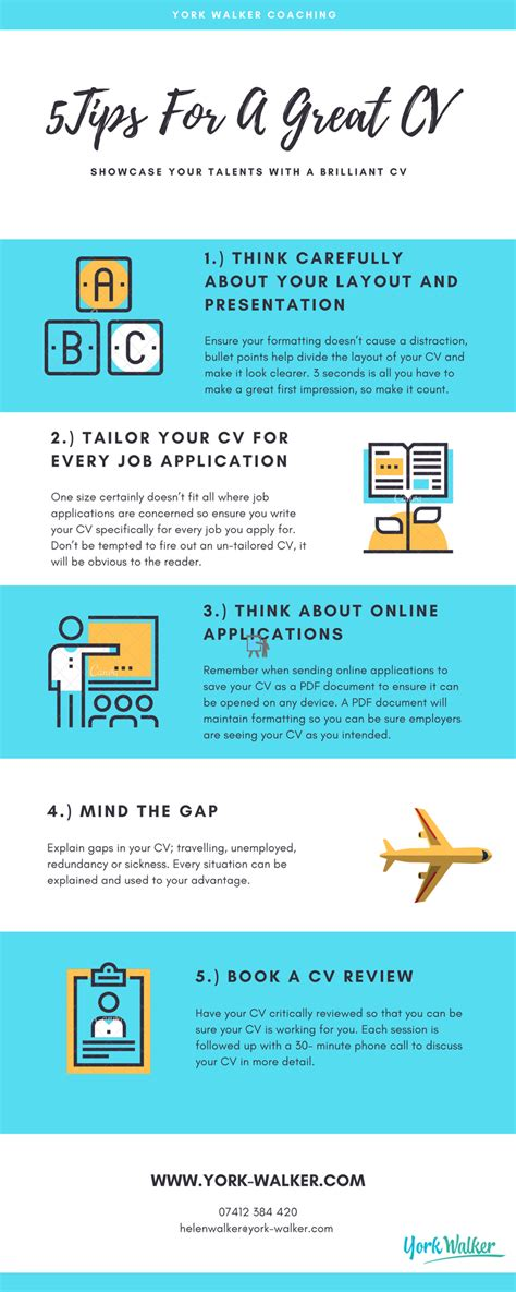 Cv Tips by 5 Tips For A Great Cv