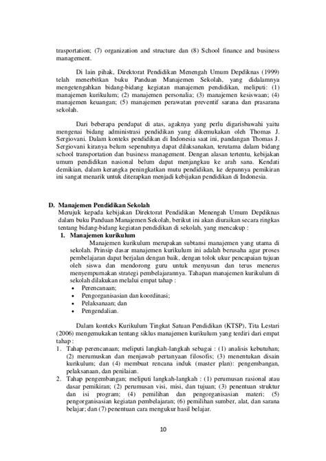 Administrasi Pendidikan Uhar Suharsaputra Rad makalah manajemen sekolah kurikulum