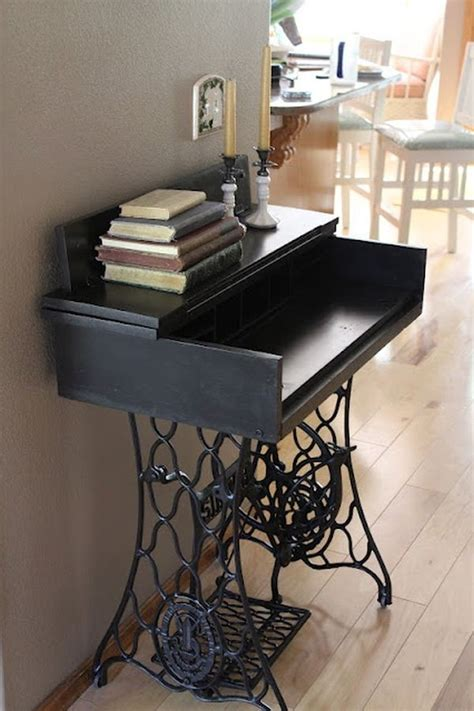 sewing machine desk ideas ingenious ideas for repurposing a treadle sewing machine