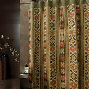 aztec 72 inch x 72 inch fabric shower curtain