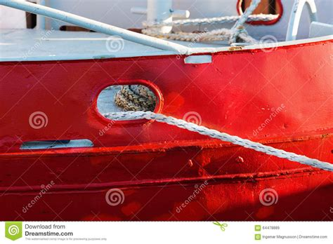 side of a fishing boat detail on boat stock photo image 64478889
