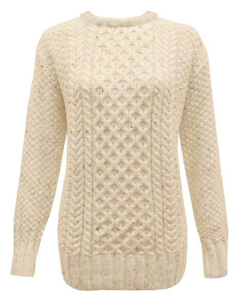 knit jumper crew neck sleeve knitted cable knit