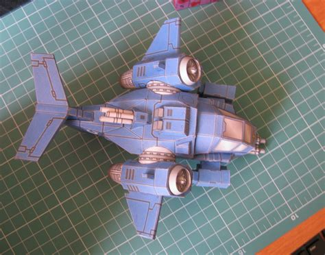 Warhammer Papercraft - warhammer space marine stormtalon papercraft by