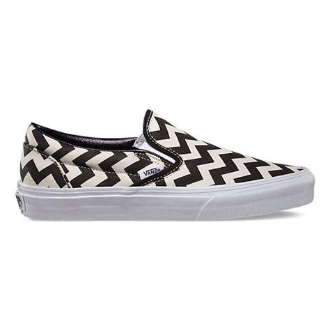 chevron pattern vans chevron slip on shop womens shoes at vans shoe