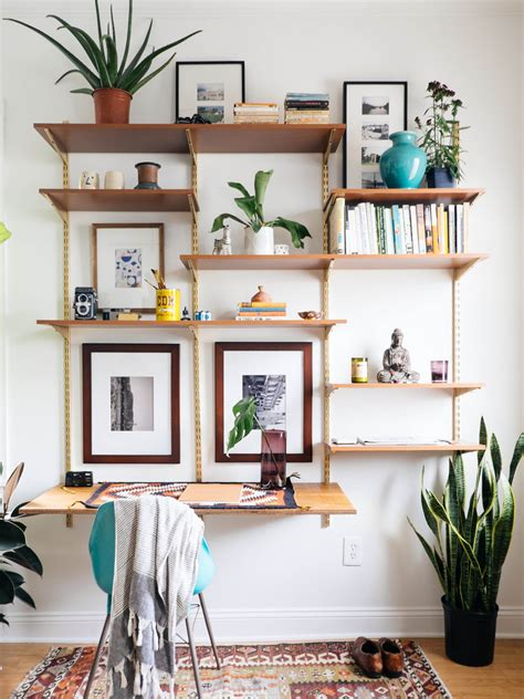 make a desk out of bookshelves diy mid century desk wall unit old brand new mid