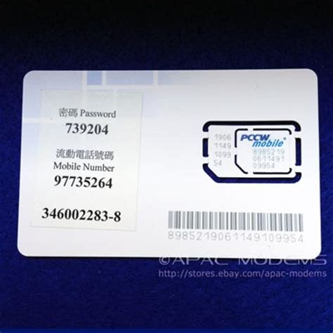 Aktivator Simcard Hk hong kong pccw 98 prepaid micro sim card without contract 3g data voice sms hk ebay