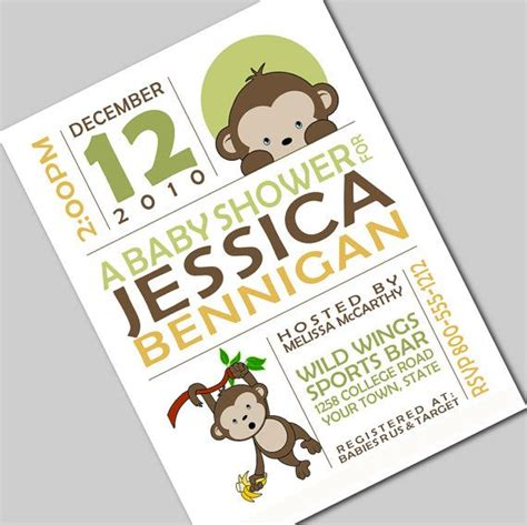 Mod Monkey Baby Shower Invitations by 31 Best Images About Monkey Themed Baby Shower On