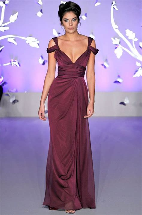 Colourfull Pink Prewedding Gown a wine colored wedding dress from jim hjelm 2012