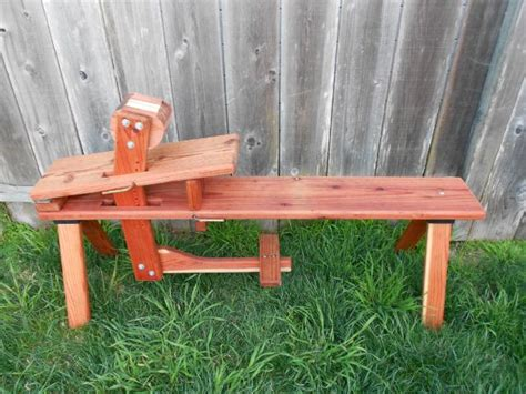 shaving bench plans shave horse plans bowyers bench tenbrook archery
