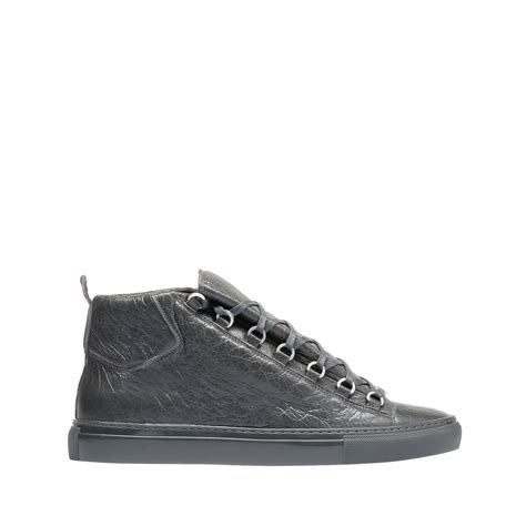balenciaga arena sneakers balenciaga arena high sneakers gris fossile s