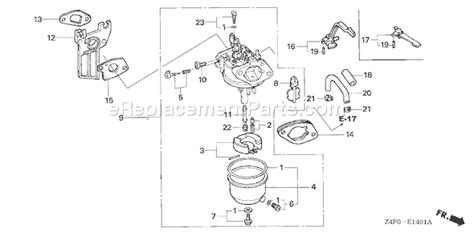 honda gx120 parts diagram honda gx160 parts diagram images