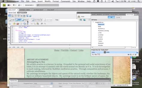 css tutorial with dreamweaver keep things consistent applying css to multiple pages