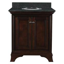 Allen Roth Bathroom Vanity Shop Allen Roth Eastcott Auburn Undermount Single Sink Bathroom Vanity With Granite Top