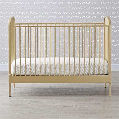 golden baby crib larkin gold metal baby crib the land of nod
