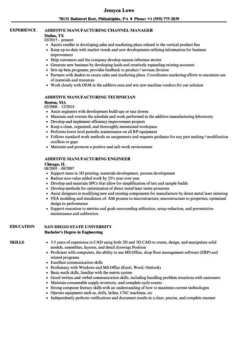manufacturing manager resume samples tehnolife