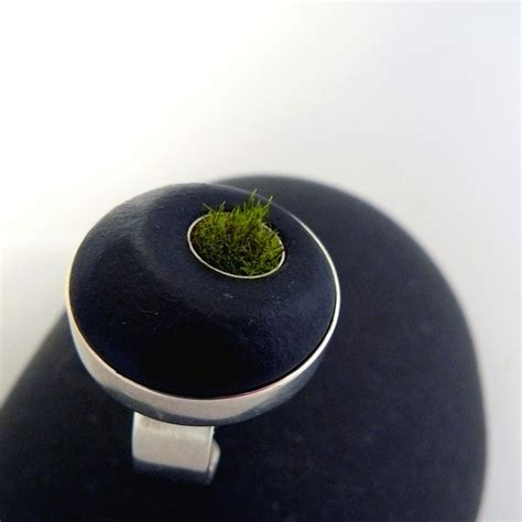 Is The Lnternet And Ring by Friday Crushes Moss And Terrarium Jewelry