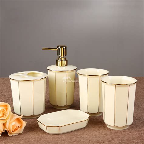 floral bathroom accessories set 5 piece floral bathroom accessories set ceramic floral enamel