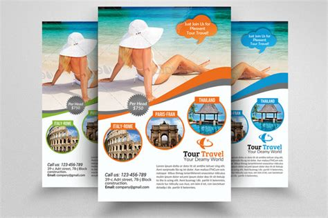 tour flyer template tour travel agency flyer template flyer templates on