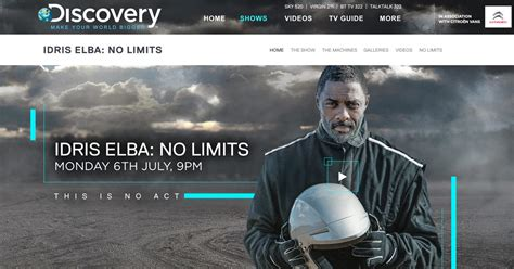 Discovery Shed Sky Channel by Idris Elba No Limits Aerobatics Idris Elba