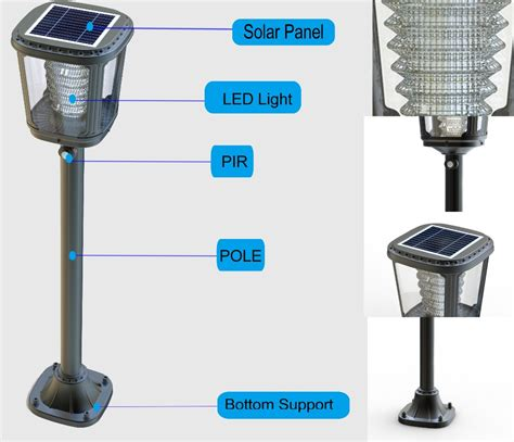 solar led l post solar post lights product images pl04 solar 2 led mini l