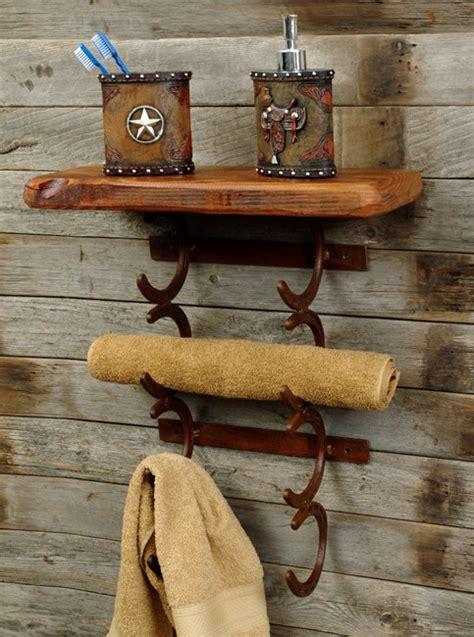 Western Towel Rack rustic horseshoe towel holder reclaimed furniture design ideas