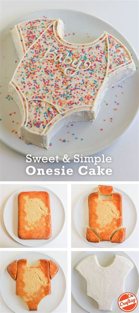 Easy Diy Baby Shower Cakes by Onesie Cake Tutorial Easy Baby Shower Cake Reveal