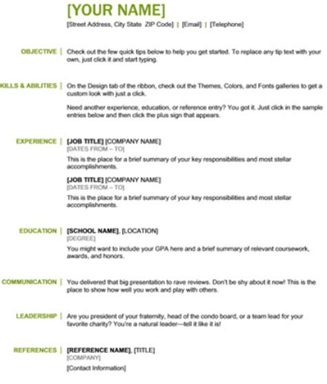 simple resume template microsoft word best photos of basic chronological resume templates