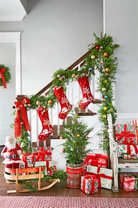 christmas decorations for homes scintillating christmas garland decoration ideas