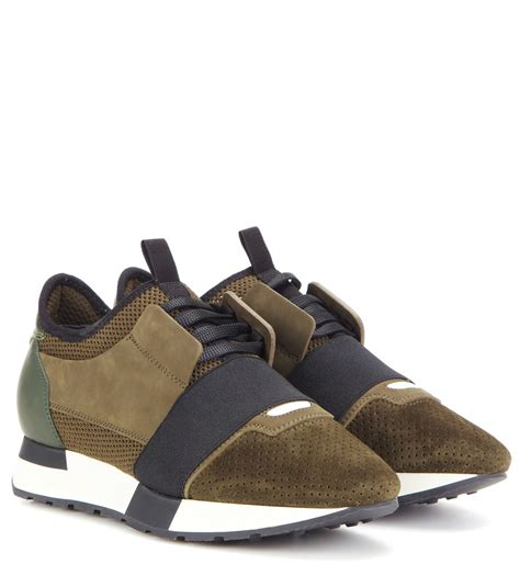 race runner balenciaga sneakers balenciaga race runner fabric leather and suede sneakers