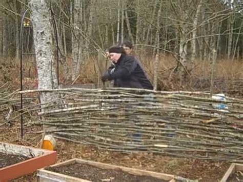 building   wattle fence youtube