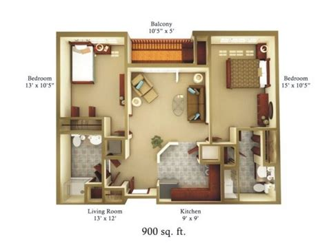how big is 800 square feet 900 square foot house plans property magicbricks com