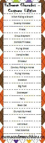 halloween themed charades here s a list of fun halloween themed actions to use for