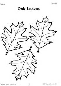 best photos of full page fall leaf template oak leaf