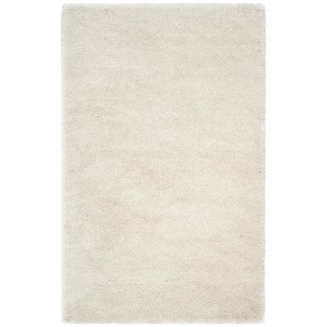 Memory Foam Area Rug Safavieh Memory Foam Plush Shag Ivory 8 Ft X 10 Ft Area Rug Sgp256a 8 The Home Depot