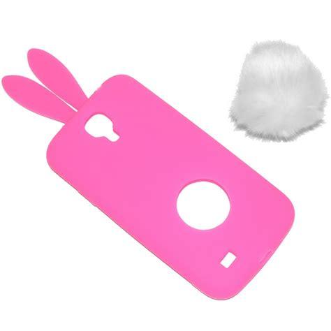 Softshell Tpu Kelinci Rabbit Samsung S4 rabbit custodia silicone samsung galaxy s4 i9500 i9505 pink
